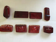 Vintage Variety Lot 1940andrsquos Dodge Plymouth Etc Rear Tail Light Glass Covers Lot