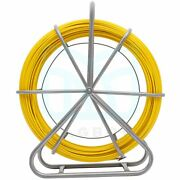 150m/492ft 8mm Fish Tape Fiberglass Wire Cable Running Rod Duct Rodder Puller