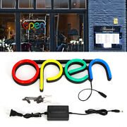 Business Store Sign Lamp Led Open Neon Light Bar Cafe Shop Outside Wall Decor