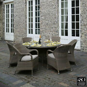 4 Seasons Dining Set Resin Hand Made Fully Asembled 7 Piece Outdoor Dorset