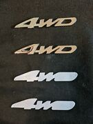 2 3d New Chrome Car 4wd Badge Metal Emblem's Sticker For All Wheel Off-road Auto