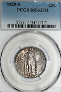 Toned 1929-s Standing Liberty Quarter Pcgs Graded Ms63fh Stock 43477121