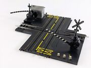 Marx Rail And039n Road Ho And Slot Car Railroad Crossing Track W/ Trackside Shed