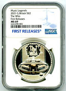 2021 2pd Great Britain 1oz Silver Version The Who Ngc Ms69 First Releases Top