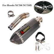 370mm Exhaust Tips Muffler Mid Link Pipe Modified System For Honda Nc700 Nc750x