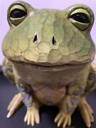 Jim Shore Resin Groovy Frog2005. Outdoor-able. Indoor-able. Sassy Everywhere.
