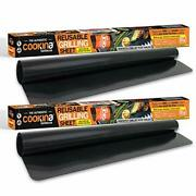 Cookina Web Bb Bbq Reusable Mat Pack Of 2 -100 Non-stick, Easy To Clean Grill