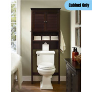 Traditional Over-the-toilet Bathroom Cabinet Space Saver Storage Espresso Finish