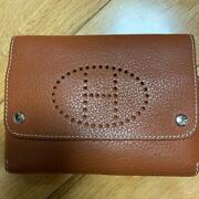 Hermes Leather Playing Card Case Brown No Box