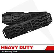 2pcs Recovery Traction Tracks W/ Jack Lift Base Sand Mud Snow Tire Ladder 10t
