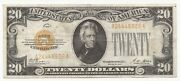 1928 20 Dollar Bill Gold Certificate Free Shipping 926a-wchc
