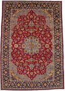 9x14 Semi Antique Classic Floral Handmade Red Oriental Rug Decor Carpet 9and0394x13and0396