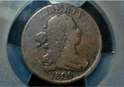 1806 Half Cent Small 6 With Stems C2 R5 Pcgs Gold Shield F Detail