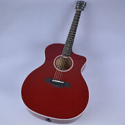 New Taylor 214ce Dlx Red 214ce Acoustic Guitar From Japan