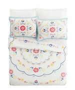 The Pioneer Woman Mazie Medallion Full/queen Floral Quilt + 2 Shams Set Bedding
