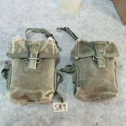 Us Gi M-56 Universal Small Arms Pouch Vietnam Era X2 Matched Up Sm9