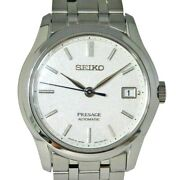 Seiko Presage Sary147 Mechanical Automatic Menand039s Watch Made In Japan White Dial