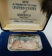 Vintage 1973 .999 Pure Silver Bar Limited Edition Of 5000 Tribute To The Usa