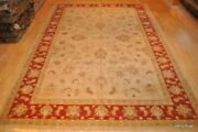 Sur Solde 10 And039x14and039 Main Mahal Sultanabad Design Tapis Beige Orange Rouge Or