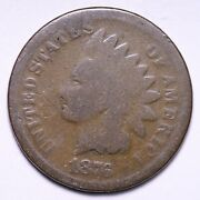 1876 Indian Head Cent Penny Choice Good Free Shipping E775 Gn