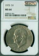 1973 Eisenhower Dollar Ngc Ms66 Pq Mac Spotless Only 2nd Finest 1 Higher .