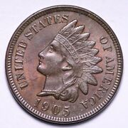 1905 Indian Head Cent Penny Choice Unc Free Shipping E851 Rcx