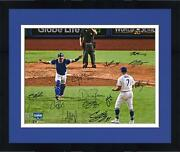 Frmd Dodgers 2020 Ws Champs Signed 16 X 20 Last Out Photo And 12 Sigs - 1/25