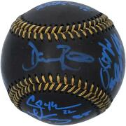 Dodgers 2020 Ws Champs Signed Black Leather Baseball And At Least 6 Signs - 20/20