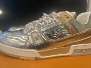 Louis Vuitton Mirror Fall 2021 Menandrsquos Sneakers Silver. Sold Out Size 10