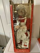 Vintage Animated Mrs Santa Claus Lighted Telco Motion-ettes Original Box Scary