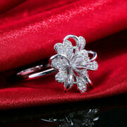 Fancy Engagement And Wedding Cluster Ring 14k White Gold Ovae 2.30 Ct Diamond