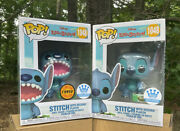 Funko Pop Stitch With Record Player Chase And Common Pops