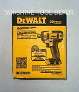 Dewalt 20v Max Cordless Li-ion 1/2 In. Impact Wrench Dcf880b New - Tool Only