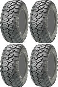 Four 4 Maxxis Ceros Atv Tires Set 2 Front 27x9-14 And 2 Rear 27x11-14 Mu07