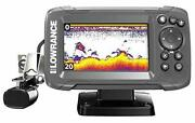 New Lowrance Hook2 4x Fish Finder With Bullet Skimmer Transducer Free Shipping