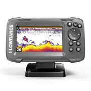Lowrance Hook2 4x Bullet Transducer And Gps Plotter Fish Finder 4 Inch Display