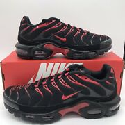 Nike Air Max Plus Bred Black Red Cu4864-001 Mens Sizes 8-13 New Free Shipping