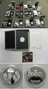 Apple Corps Beatles Complete 12 .999 Fine Silver Coin Set W/booklets Boxes