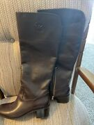 Ladies Leather Tall Riding Boots Size 11m Nwob 225. Burgundy