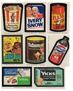 Wacky Packages 1974 Series 8 Complete Set Of 30 And 5/9 Of Puzzle/ Checklist Set9