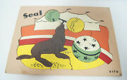 Seal Sifo Vintage Wooden Puzzle 12 X 9 Jigsaw Design In Tray Circus Tent Theme