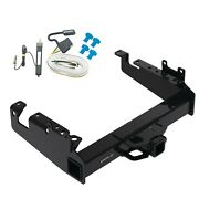 Trailer Tow Hitch For 19-21 F-350 F-450 F-550 Cab Chassis W/ Wiring Harness Kit