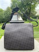 Dunhill Canvas Leather Flap Briefcase Bag  Pu500