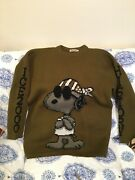Vintage Peanuts Snoopy Iceberg History Jeans Sweater Size Xl Made In Italy