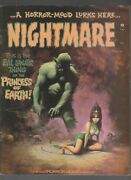 1972 Nightmare Skywald Magazine 10 Fn+ 6.5 Double Cover / Fisherman Collection