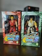 Capcom Vs. Snk 2 Millionaire Fighting 2001 Ken And Ryu Figures New Free Ship Us