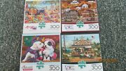 Lot Of 4 Charles Wysocki, Aimee Stewart, Etc., 300 Piece Puzzles, 2 Are New