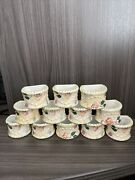 Tracy Porter The Evelyn Collection Napkin Rings Set 12 Hand Painted