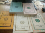 5 Antique Original 1930s Grand Ch Order Of The Eastern Star Md.membership Books