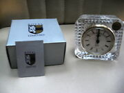 Royal Limited 24 Full Lead Crystal 4 Square Clock - New In Original Box